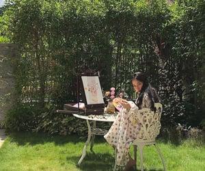 art, garden, and green image