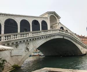 italy and rialto bridge in venice image