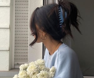 style, fashion, and flowers image