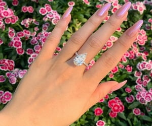 engagement ring, pear shape, and diamond image