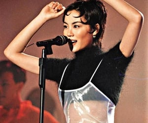 faye wong, old school, and celebrity singer image