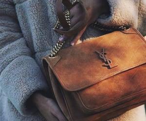 brown, aesthetic, and handbag image