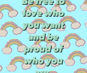 be yourself, lgbtq, and rainbow image