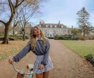 bicycle, hair, and girl girls girly image