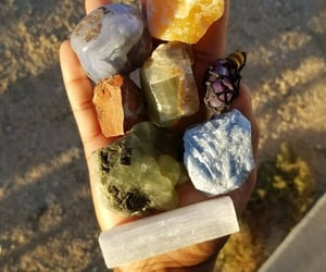 crystal, selenite, and necklace image