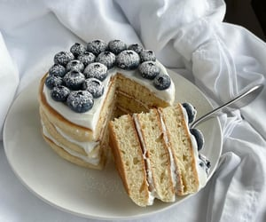 cream, delicious, and dessert image