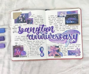 aesthetic, purple, and bullet journal image