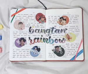 aesthetic, rainbow, and bts image