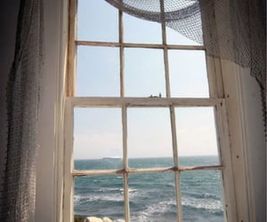 window, sea, and beach image