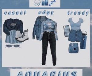 aqua, aquarius, and zodiac sign image
