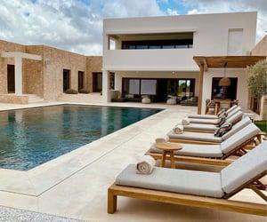 pool, holidays, and house image