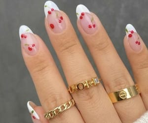nails, beauty, and cherry image