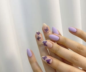 beauty, butterfly, and manicure image