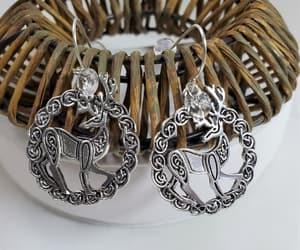 deer, earrings, and handmade earrings image