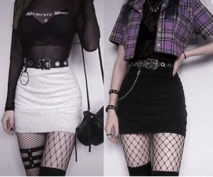 fishnet and skirts image