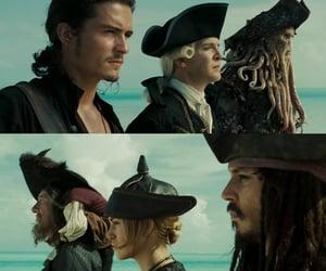 Davy Jones, elizabeth swan, and geoffrey rush image