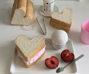 bread, japanese sandwich, and fruit image