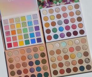 eyeshadow, makeup, and makeup palette image