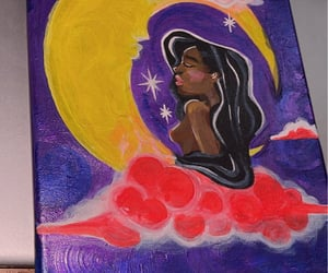 art, moon, and smile more image