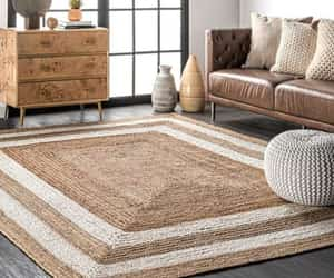 etsy, braided area rug, and entryways rug runner image