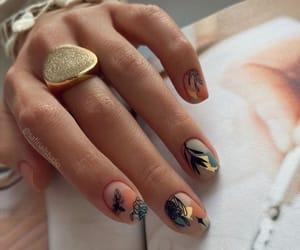 autumn, nail art, and various colour nails image