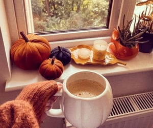 autumn, we heart it, and coffee image