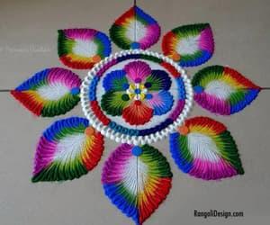 art, rangoli, and holi rangoli image