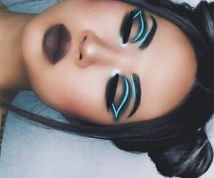 blue, future, and makeup image