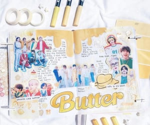 aesthetic, butter, and bts image