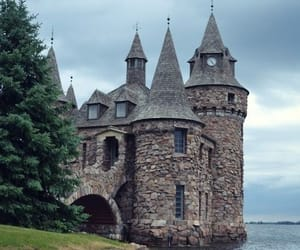 castle, photography, and sea image