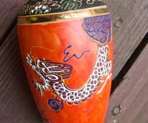 etsy, dragonware vase, and decorative vase image