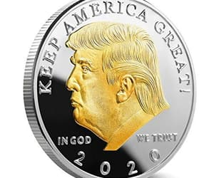 president trump, donal trump, and trump coins image