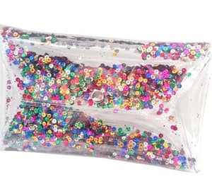 etsy, sparkle bag, and clear purse image