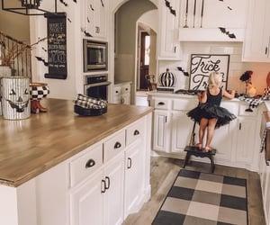 Halloween, interior decorating, and kitchen image