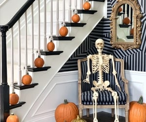 entryway, foyer, and Halloween image