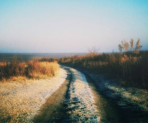 nature, road, and vintage image
