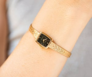 etsy, unique gift watch, and woman watch gold image