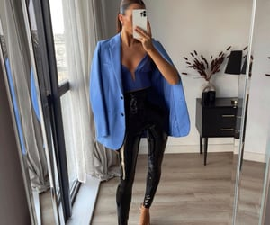 black, fashion blogger, and blazer image