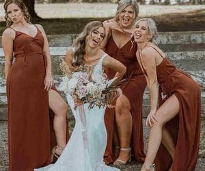 bridesmaids, bridesmaids dresses, and wedding image