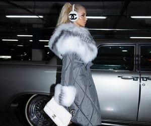 grey coat, luxury lifestyle, and white shoes image