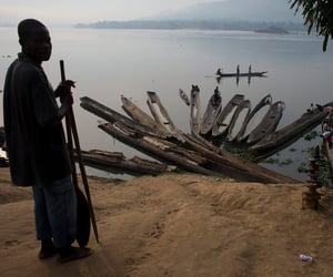 africa, lake, and central african republic image
