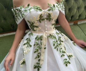 dress, flower, and outfit image