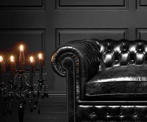 black, candles, and leather image