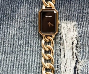 chanel, gold, and accessories image