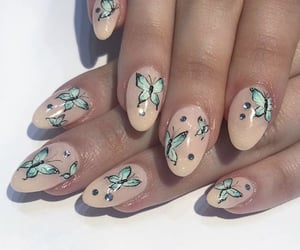 aesthetics, butterfly, and manicure image