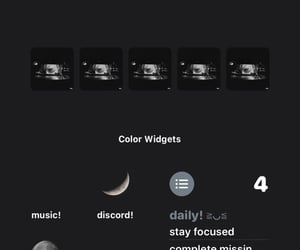 layout, moon, and homescreen image