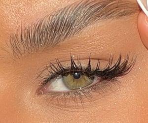 eyebrows, eyelashes, and woman image