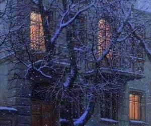 winter and night image