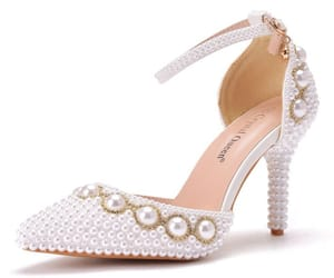 ankle strap, elegant, and pearl image