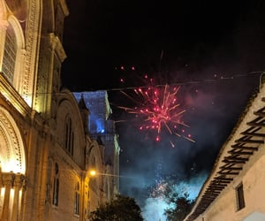 cathedral, fireworks, and night image